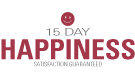 15 Day Happiness Guarantee