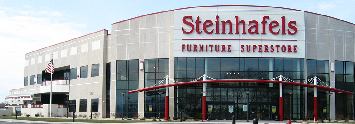 Steinhafels builds a 420,000 square foot headquarters featuring corporate office, distribution center and a flagship superstore located at I-94 and Highway F in Waukesha.