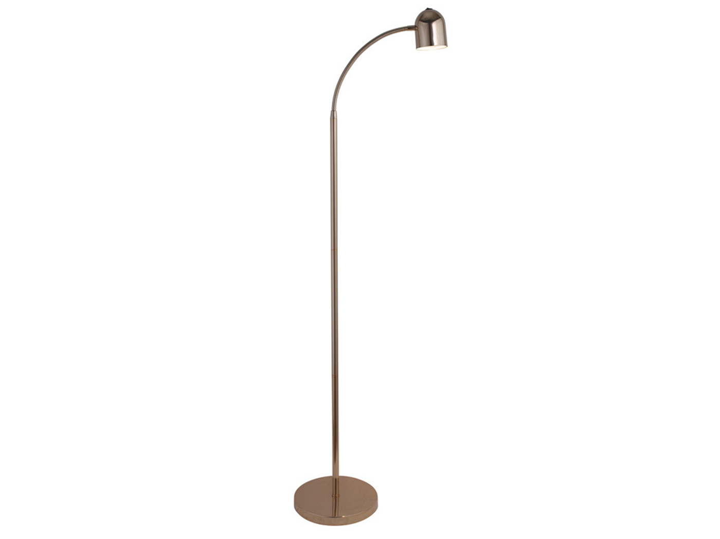"Rose Gold LED Floor Lamp 51""H"