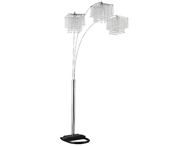 "Bling Floor Arc Lamp 84""H"
