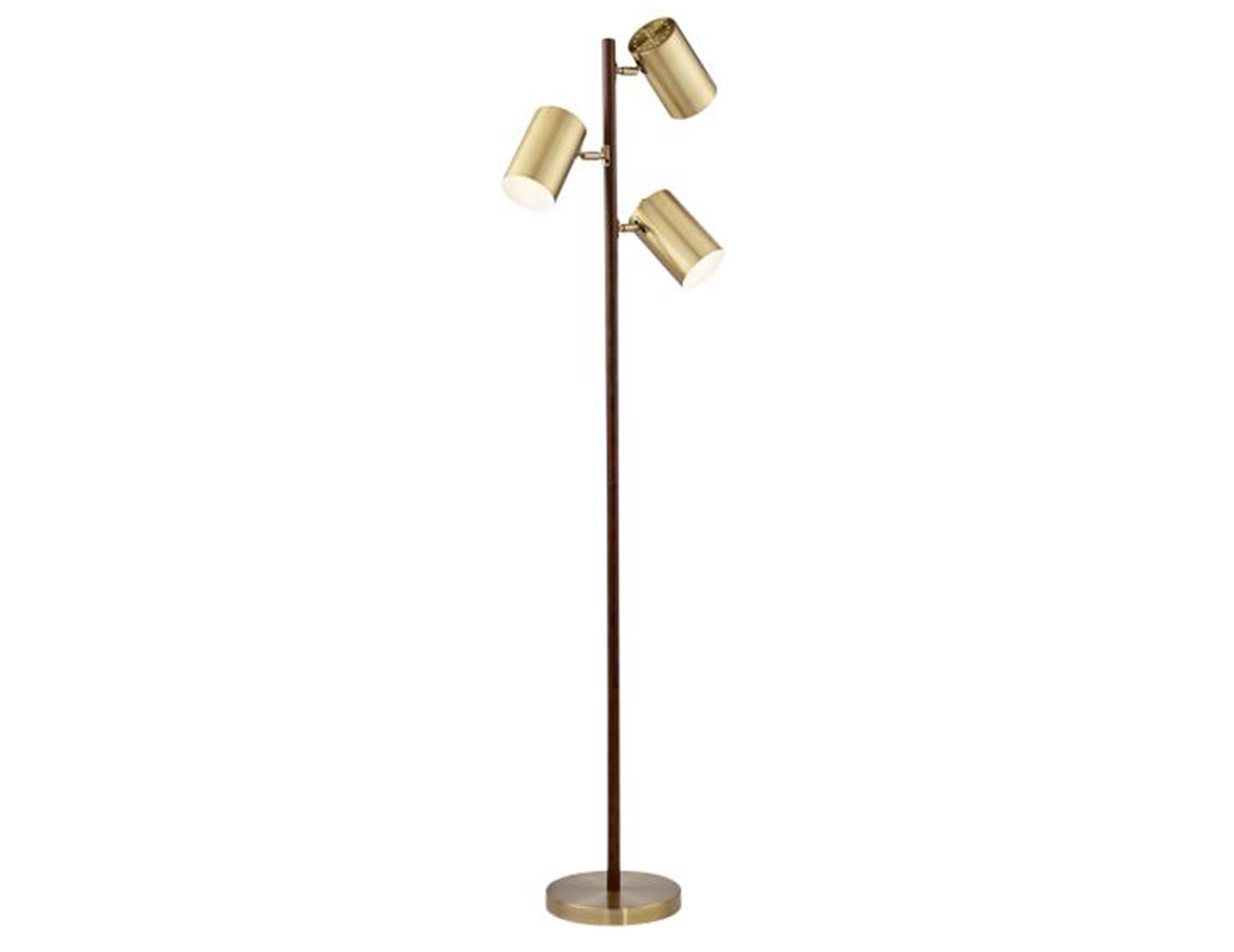 "Brass 3-Lite Floor Lamp 63.5""H"