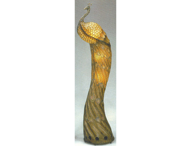 "Peacock Floor Lamp 71""H"