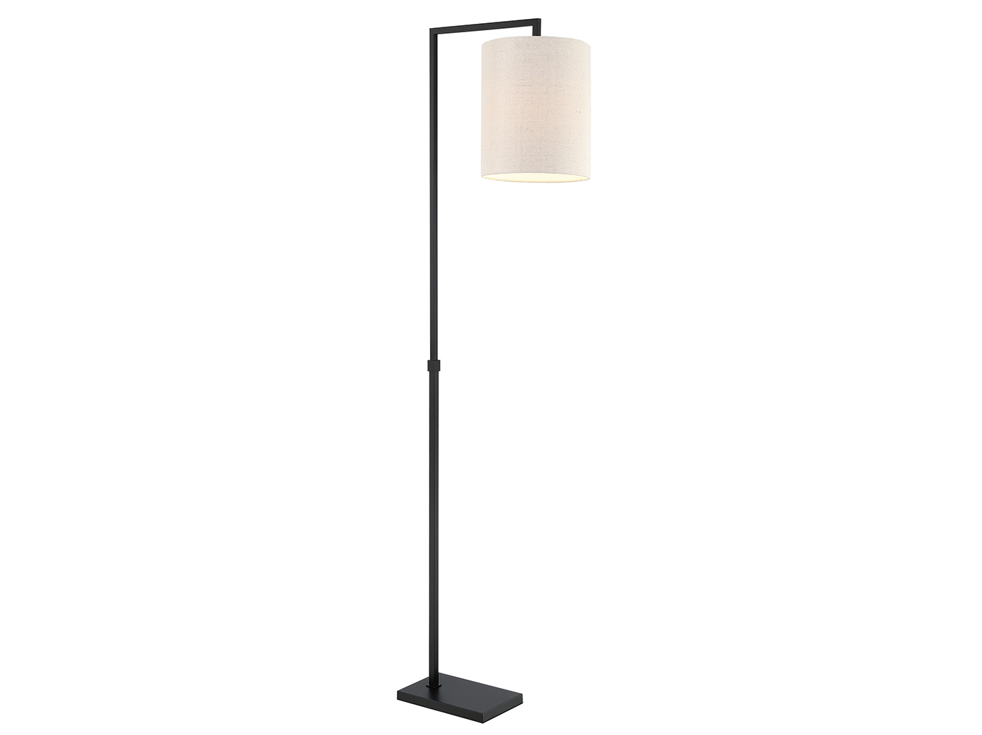 "Metal with Cylinder Shade Floor Lamp 68""H"