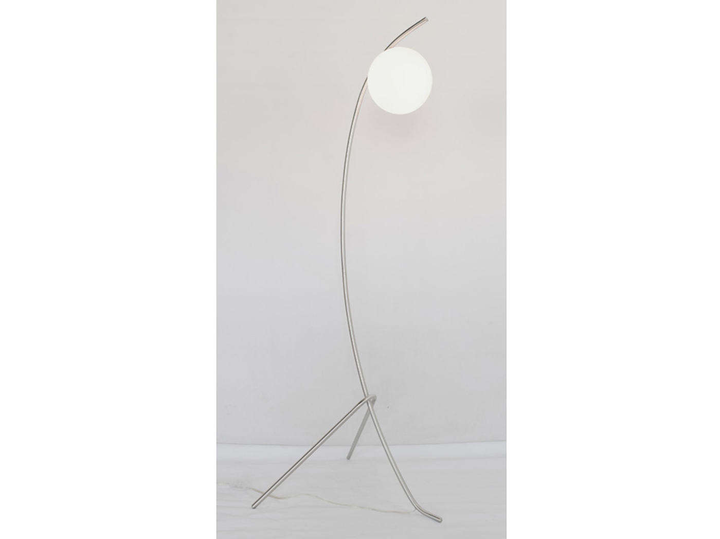 "Nickel With Frosted Glass Shade Floor Lamp 18""H"