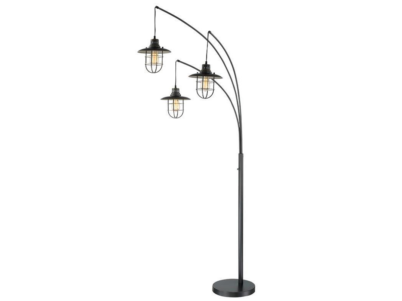 "Bronze Lanterna II Arc Lamp 89""H with Edison Bulbs"