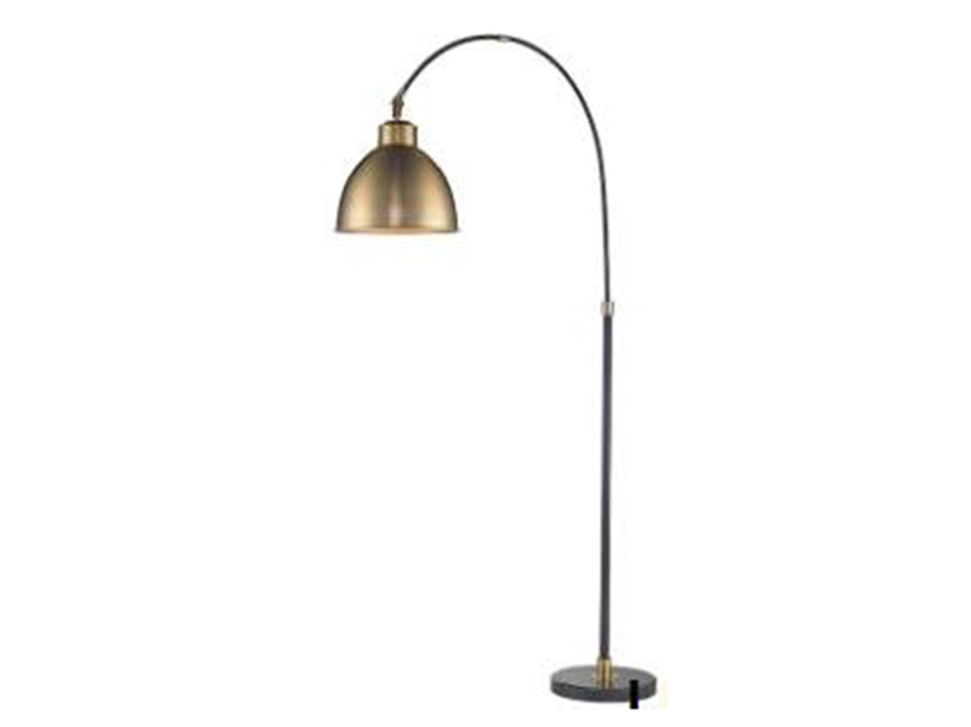 "Black and Gold Arc Lamp 82.5""H"