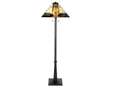 "Marley Tiffany-Style Glass Floor Lamp 63""H"