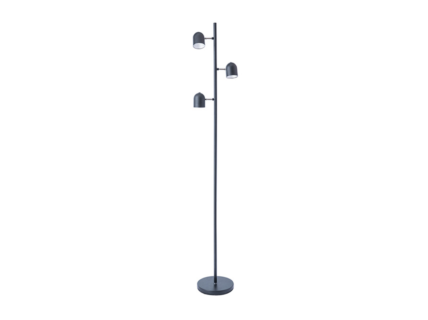 "Black 3-Light Floor Lamp 63""H"