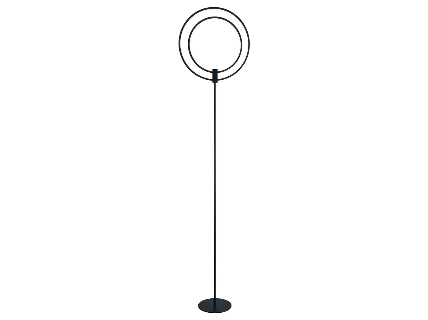 "Metal Swivel Rings LED Floor Lamp 63-78""H"