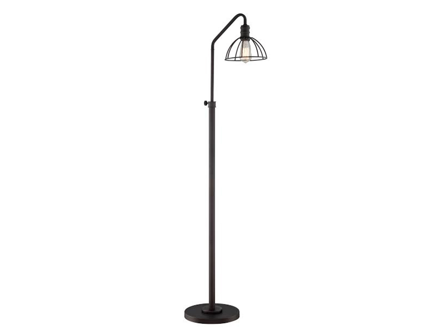 Black Metal Wire Industrial Floor Lamp