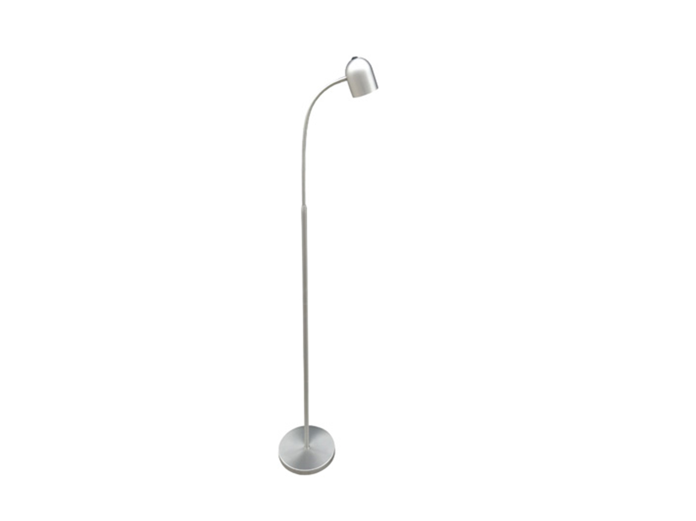 "Brushed Nickel LED Floor Lamp 51""H"