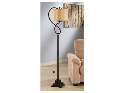 Bronze Twist Floor Lamp