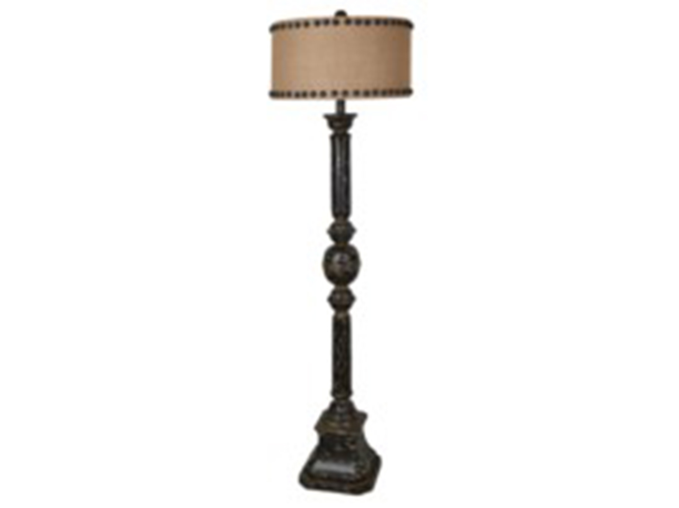 "Black/Nailhead Shade Floor Lamp 67""H"