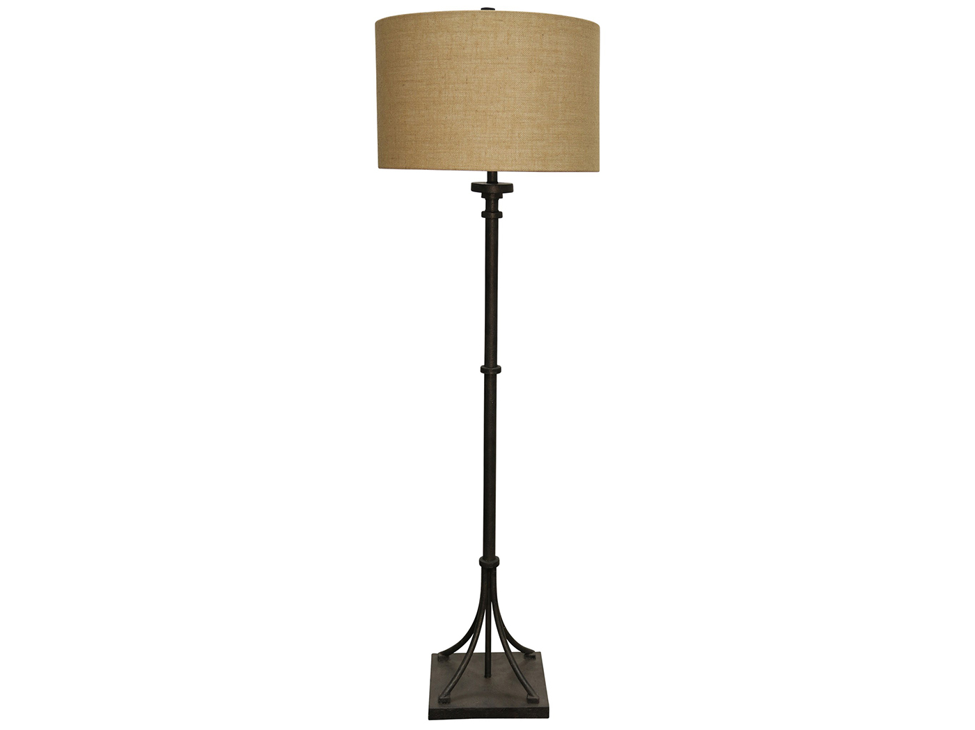 "Floor Lamp With Iron Stand 64""H"