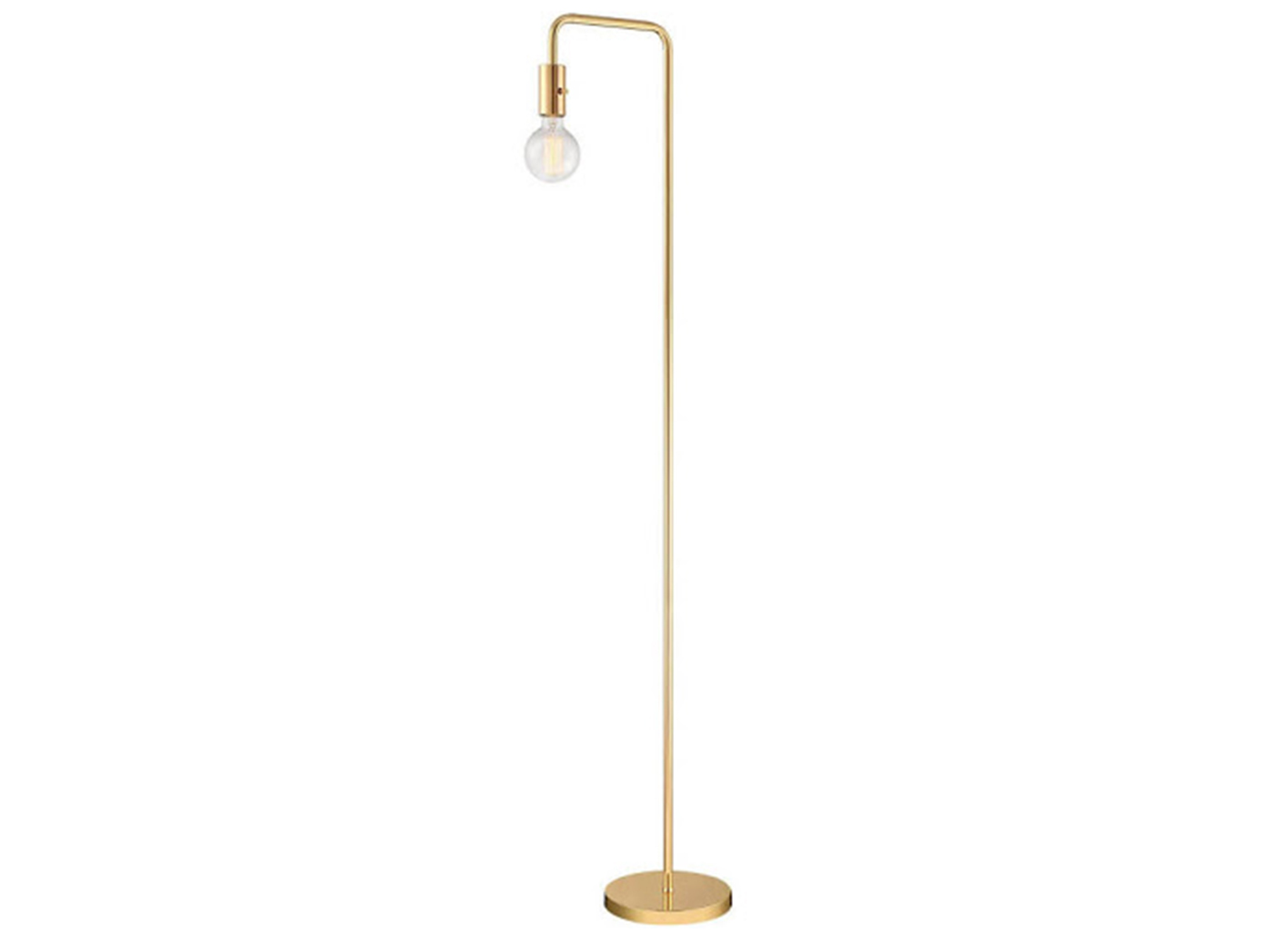 "Gold Metal Floor Lamp 61""H"