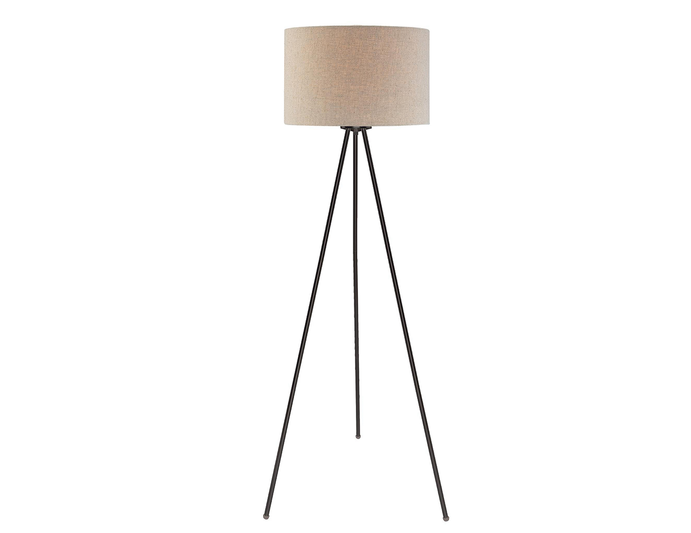 "Bronze Tri-pod Floor Lamp 59.5""H"