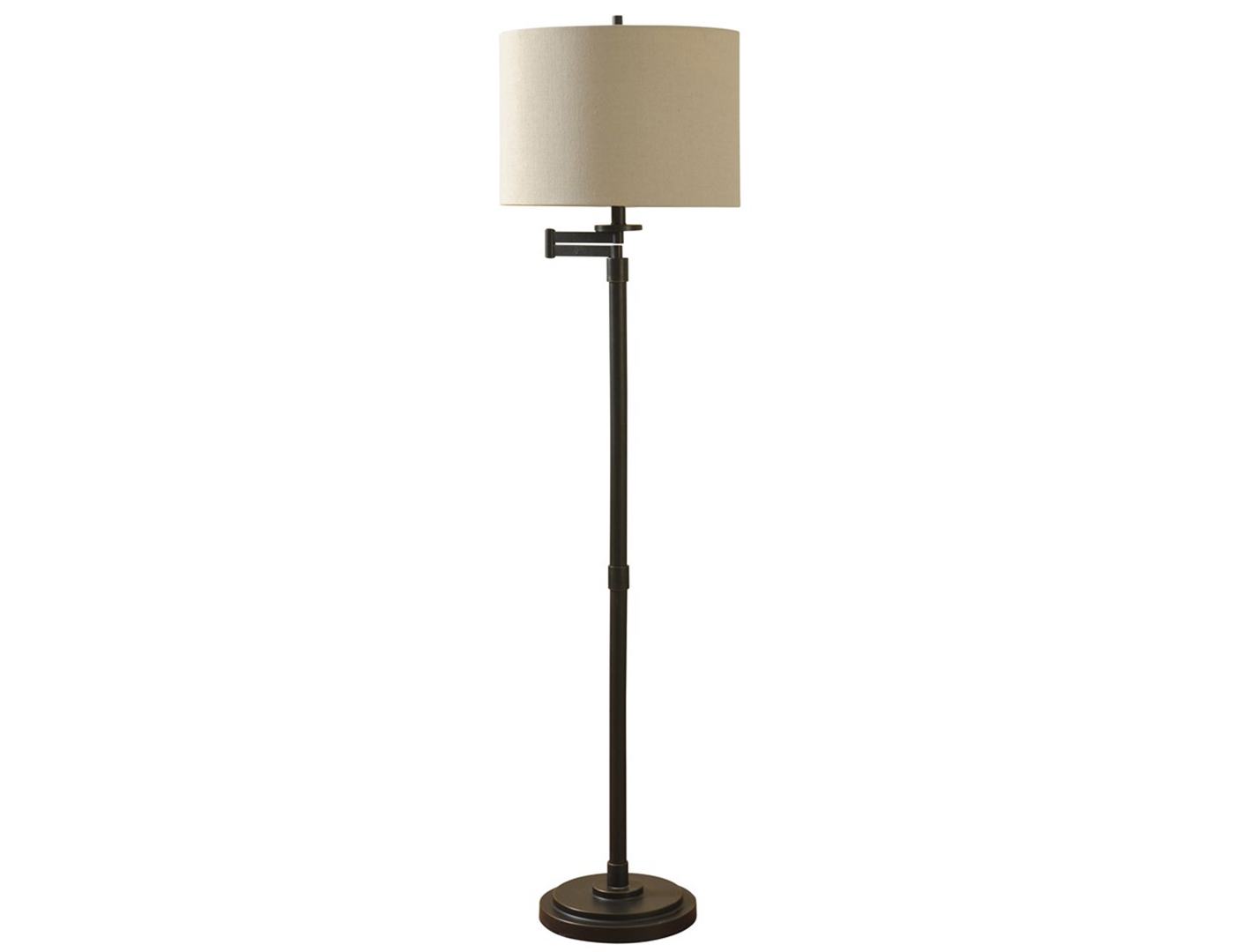 "Bronze Swing Arm Floor Lamp 61""H"