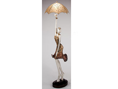 "Lady with Umbrella Floor Lamp 81""H"