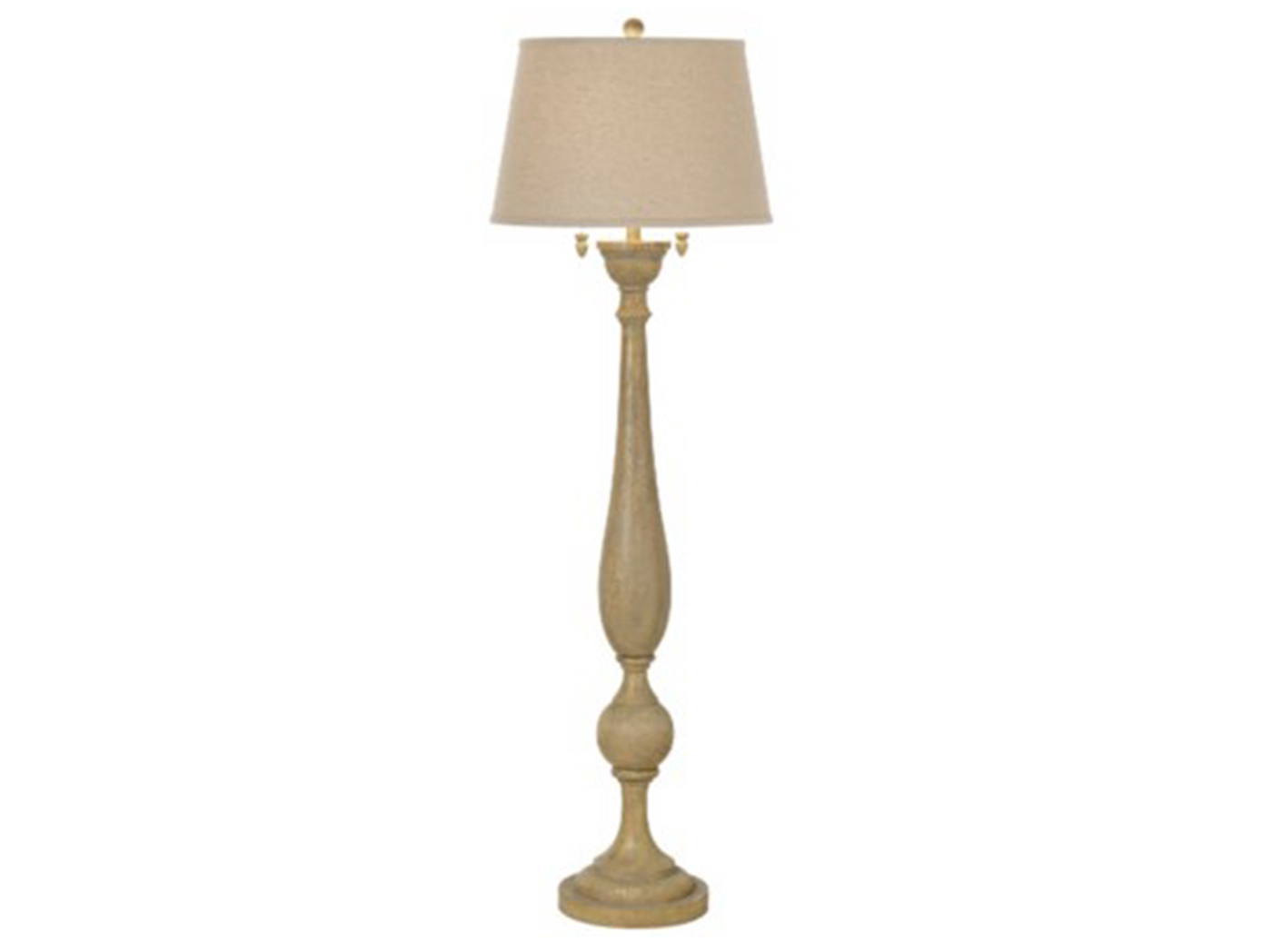 "Grey Wood Look Floor Lamp 61.5""H"
