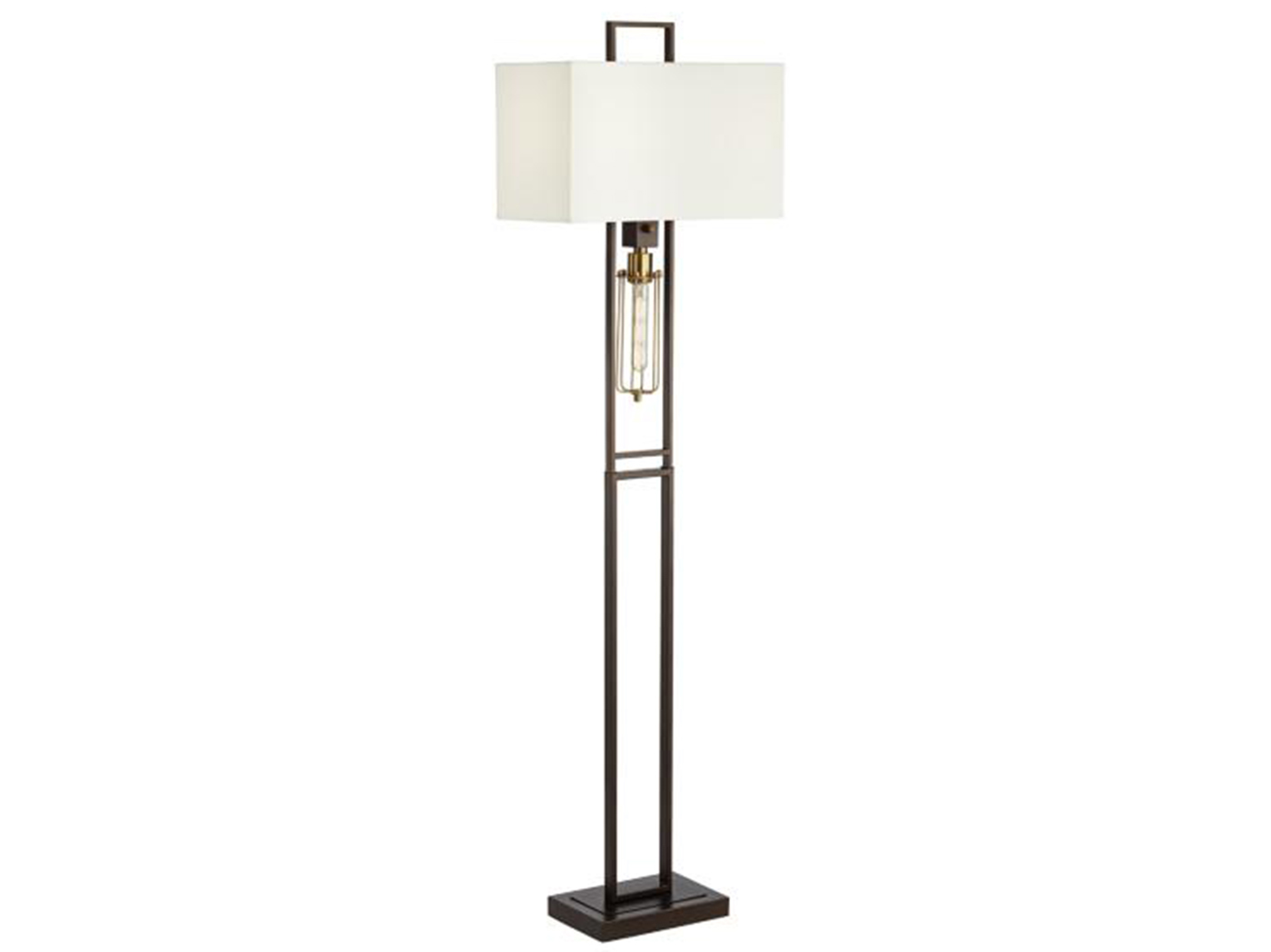 "Metal Bronze Finish Floor Lamp 66""H"