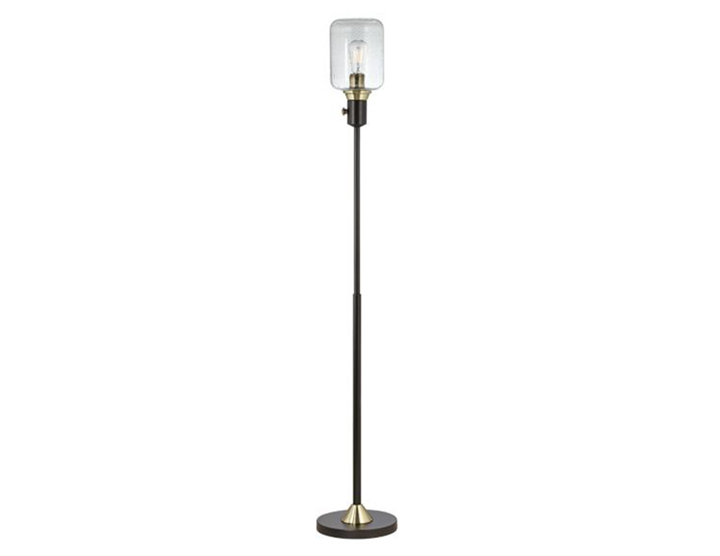 "Upright Hurricane Floor Lamp 62""H With Edison Bulb"