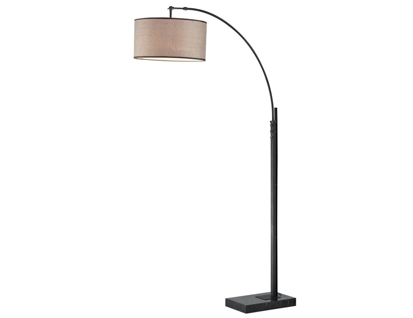 "Bronze Arc Floor Lamp 76""H"