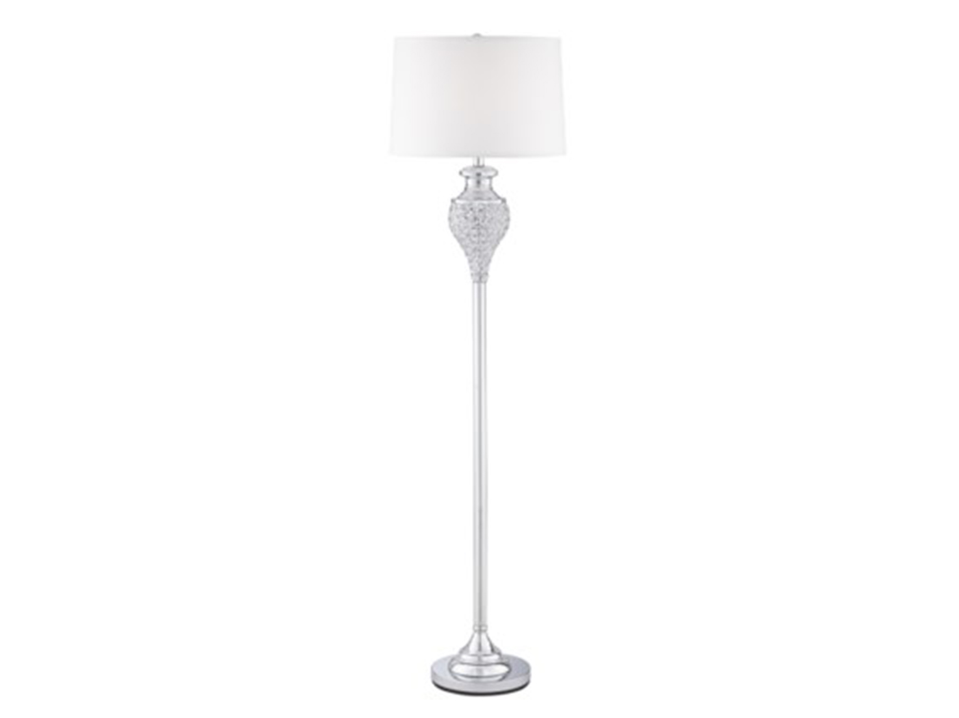 "Polished Chrome Glitz Floor Lamp 63""H"