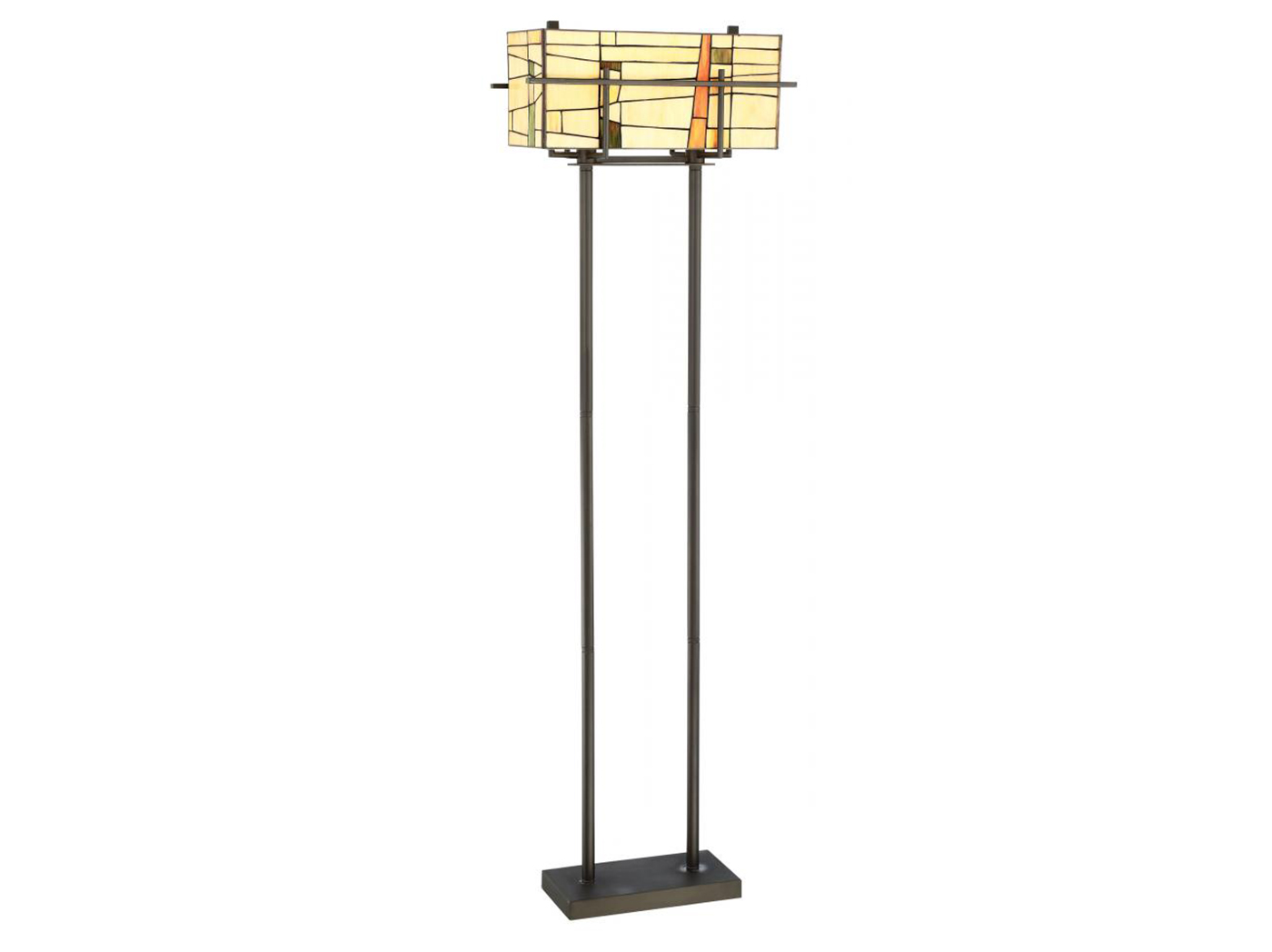 "Tiffany-Style Floor Lamp 59.75""H"