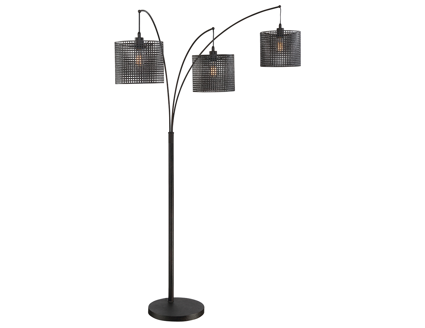 Caged Drum Floor Arc Lamp