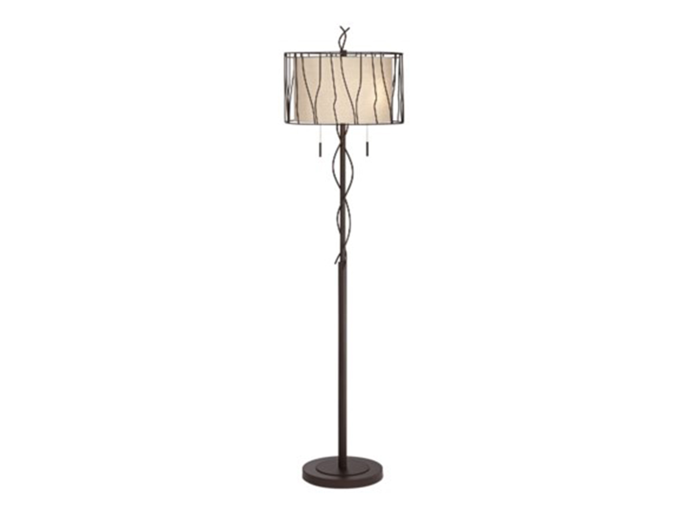 "Bronze Metal Vine Floor Lamp 66""H"