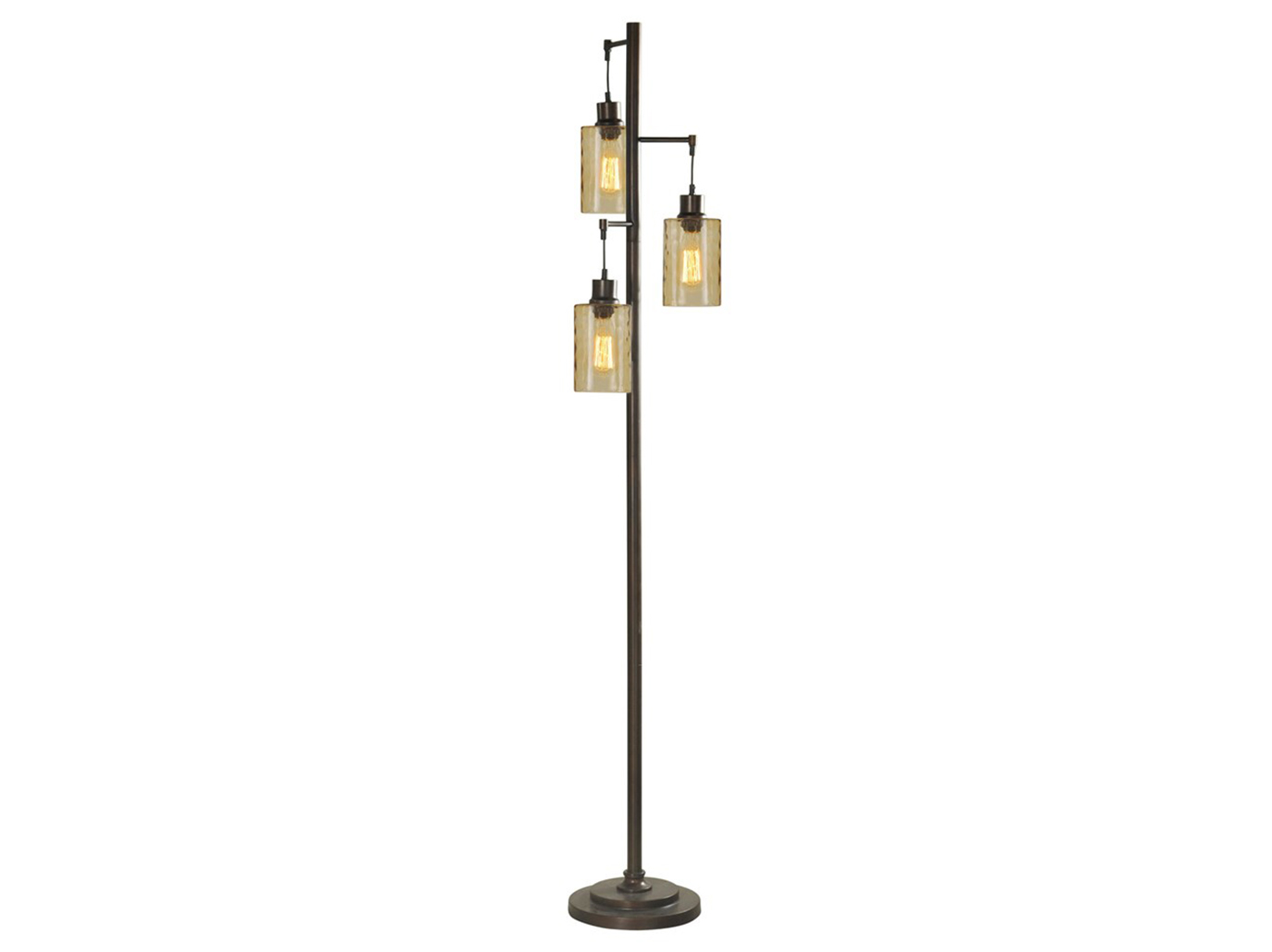 "Floor Lamp With Edison Bulbs 72""H"