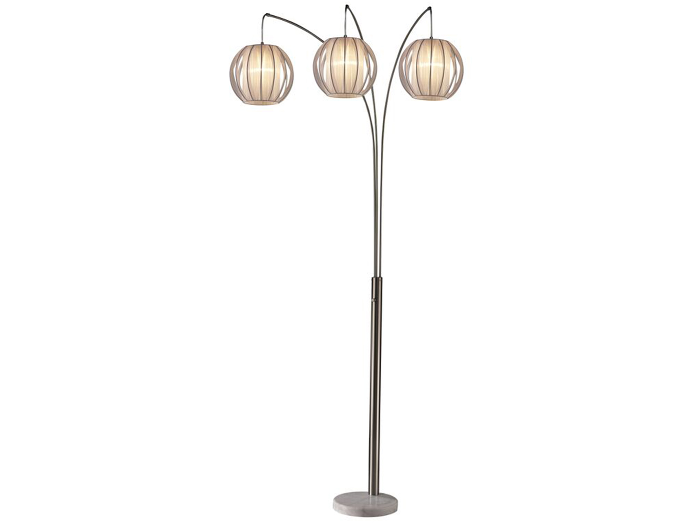 "White Arc Floor Lamp 87""H"