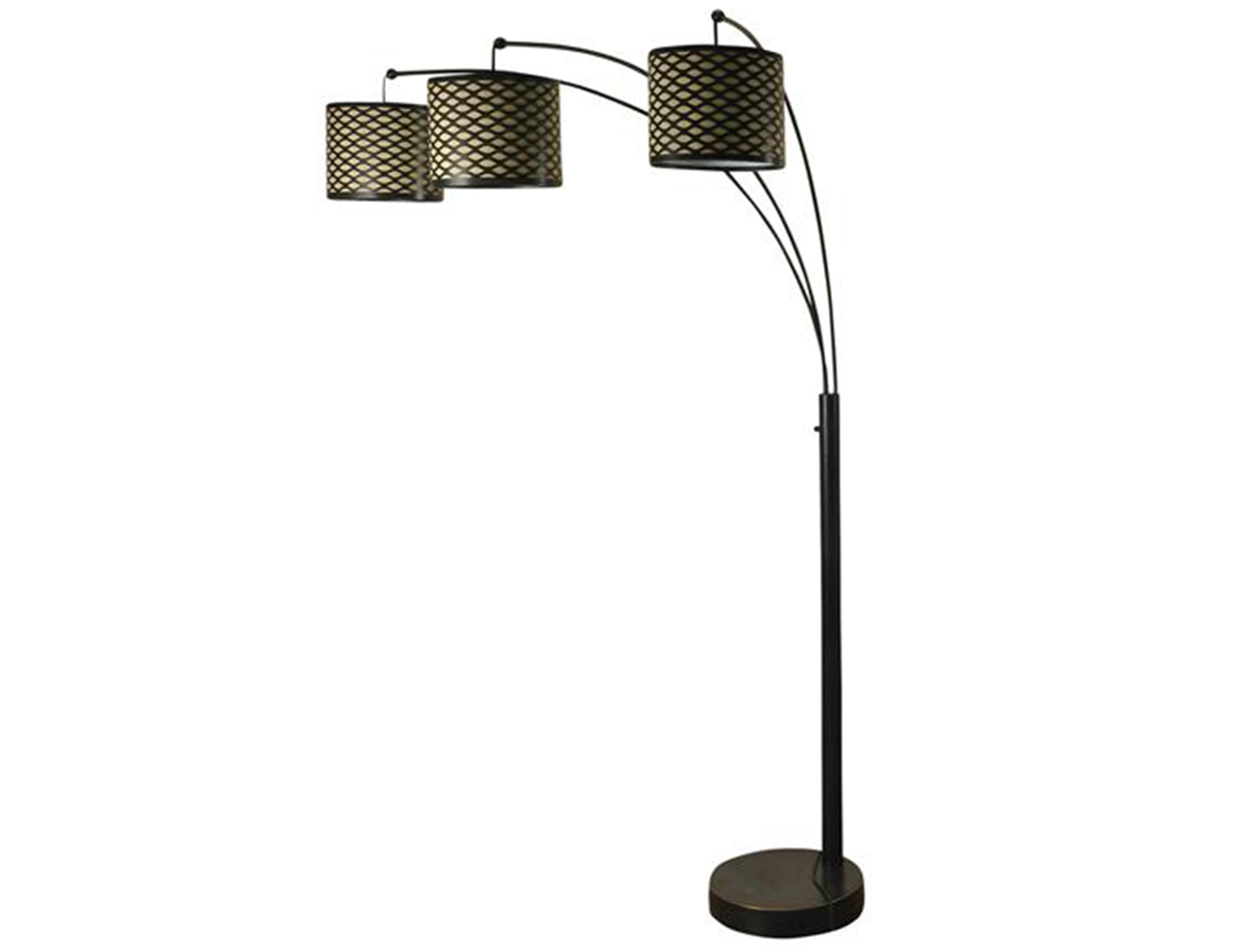 "Metal Shade 3-Lite Arc Floor Lamp 75""H"