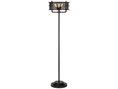"Bronze Metal Mesh Floor Lamp 72""H"