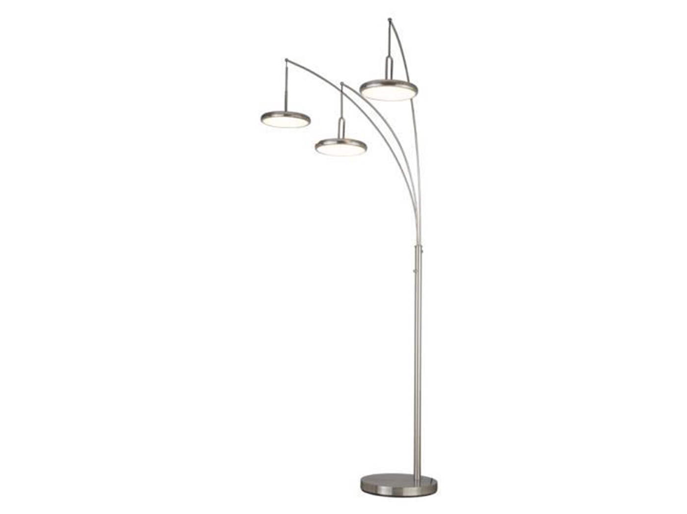 "Brushed Nickel LED Arc Lamp 93""H"