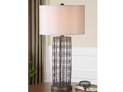 "Engel Metal Wire Table Lamp 30""H"