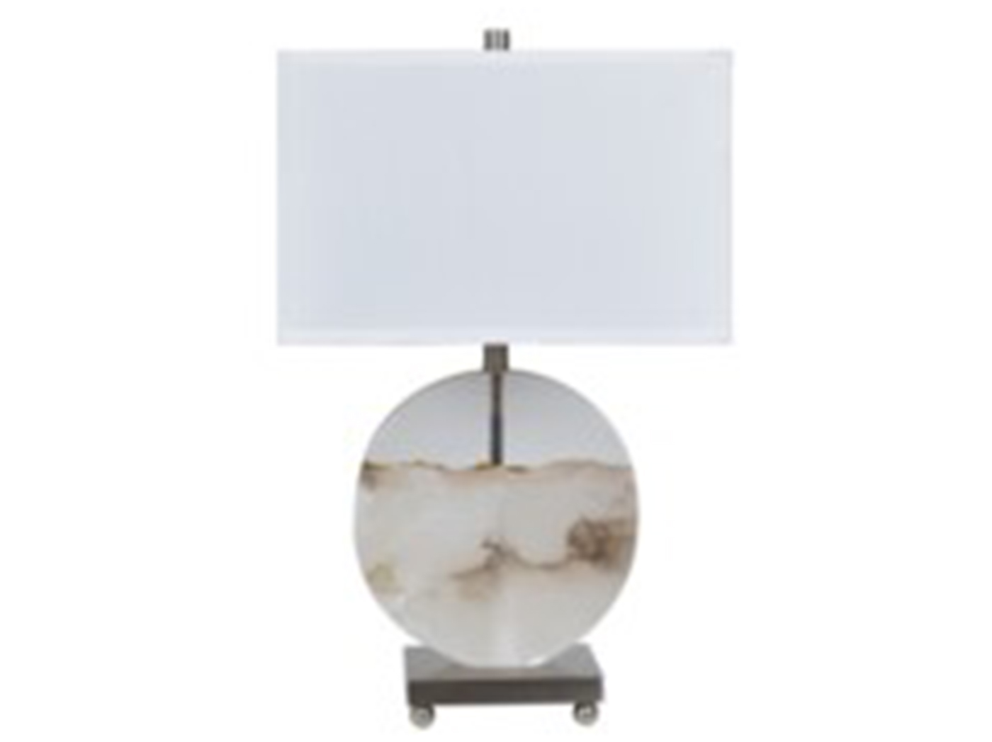 "White and Clear Table Lamp 27""H"