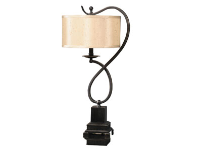 Bronze Twist Table Lamp 27""