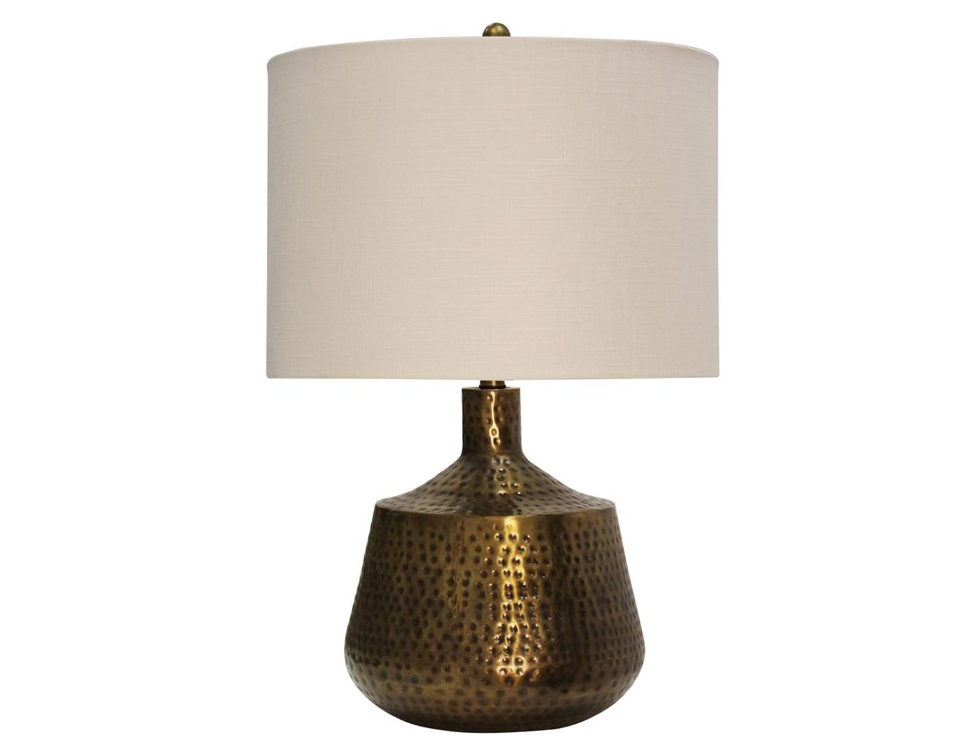 steinhafels bronze metal hammered table lamp. Black Bedroom Furniture Sets. Home Design Ideas