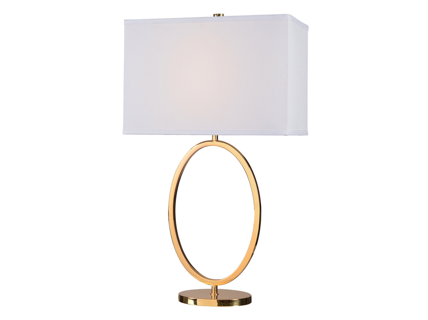 "Metal Gold Oval Table Lamp 30""H"