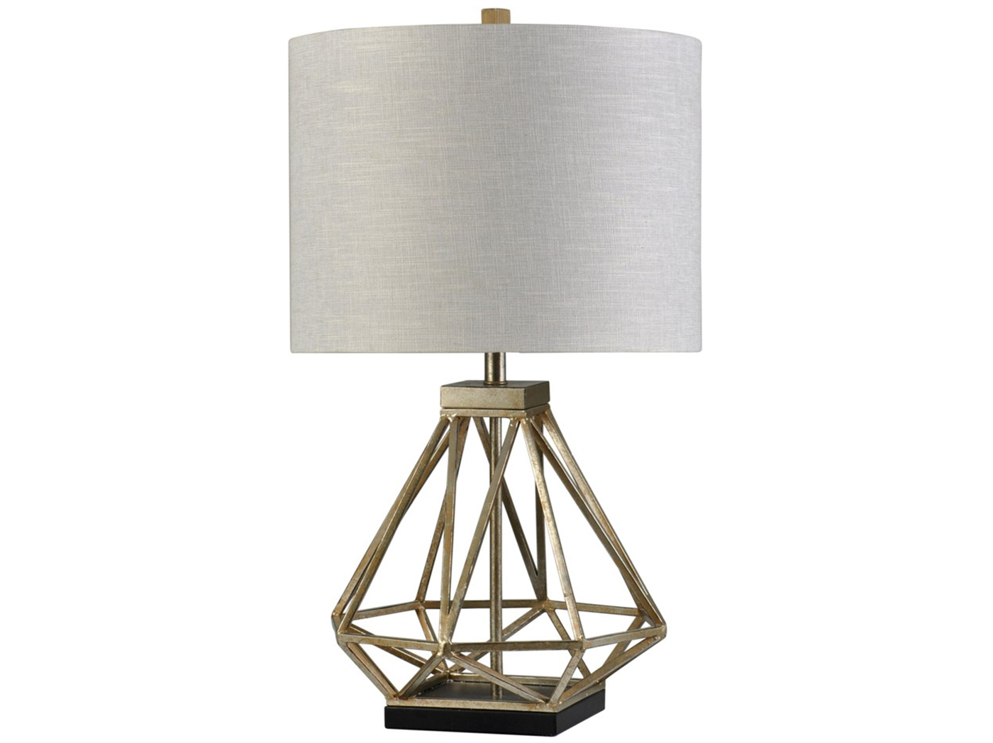 Metal Caged Table Lamp 33""
