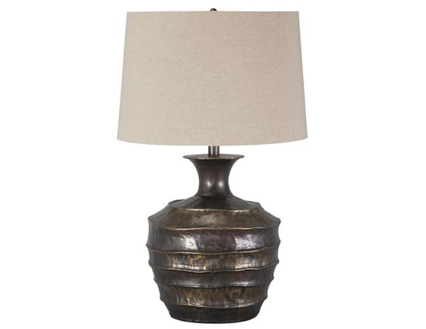 "Rippled Table Lamp 28""H"