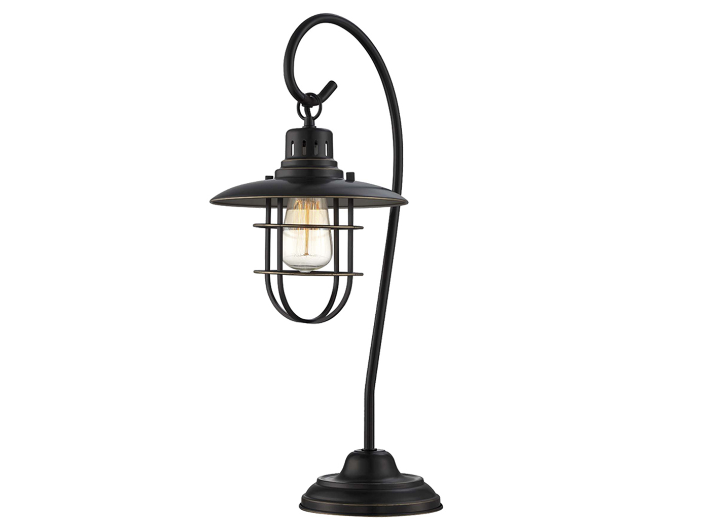 "Bronze Lanterna II Table Lamp 23""H With Edison Bulb"