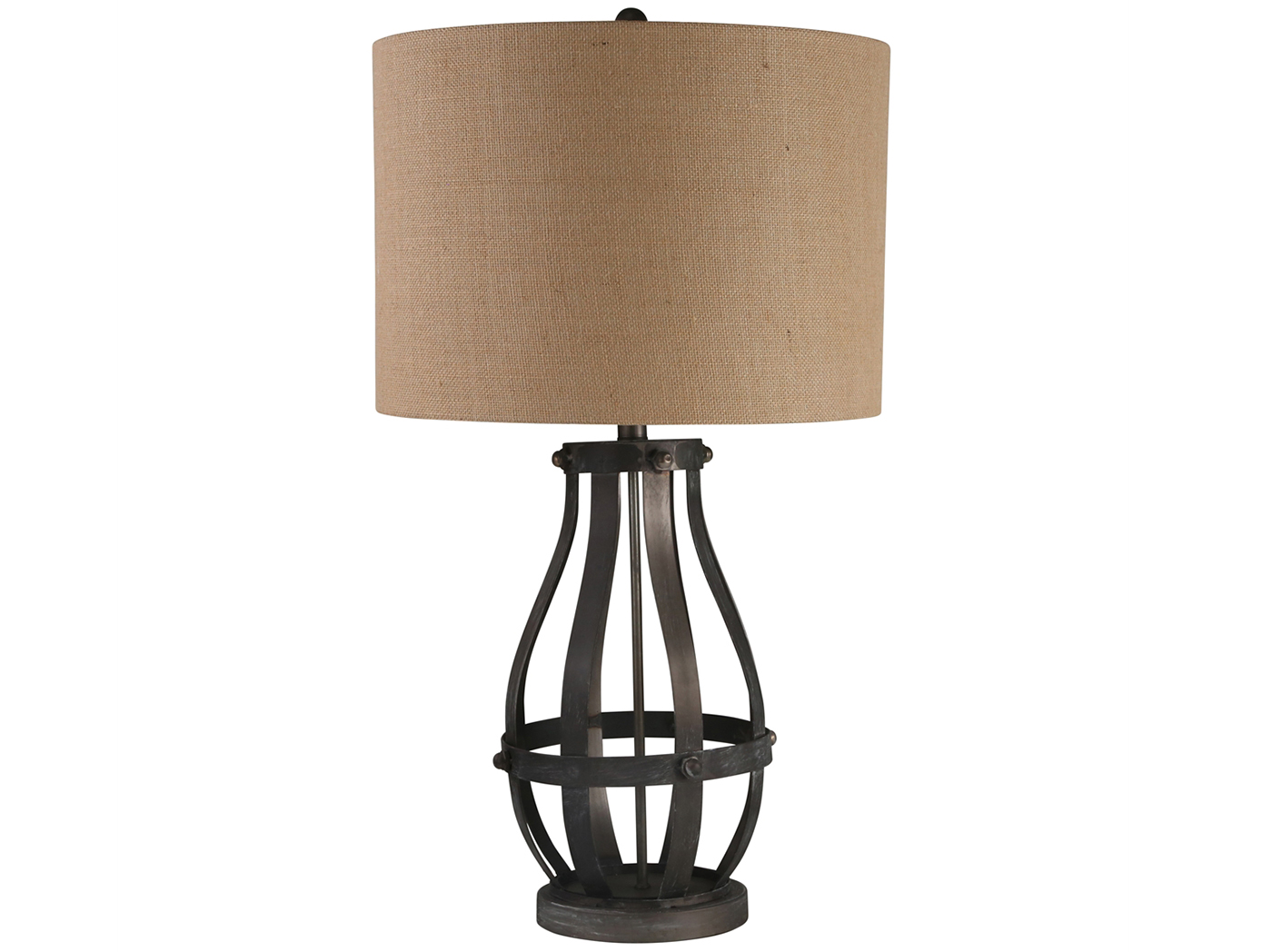 "Bronze Metal Open Weave Table Lamp 31""H"