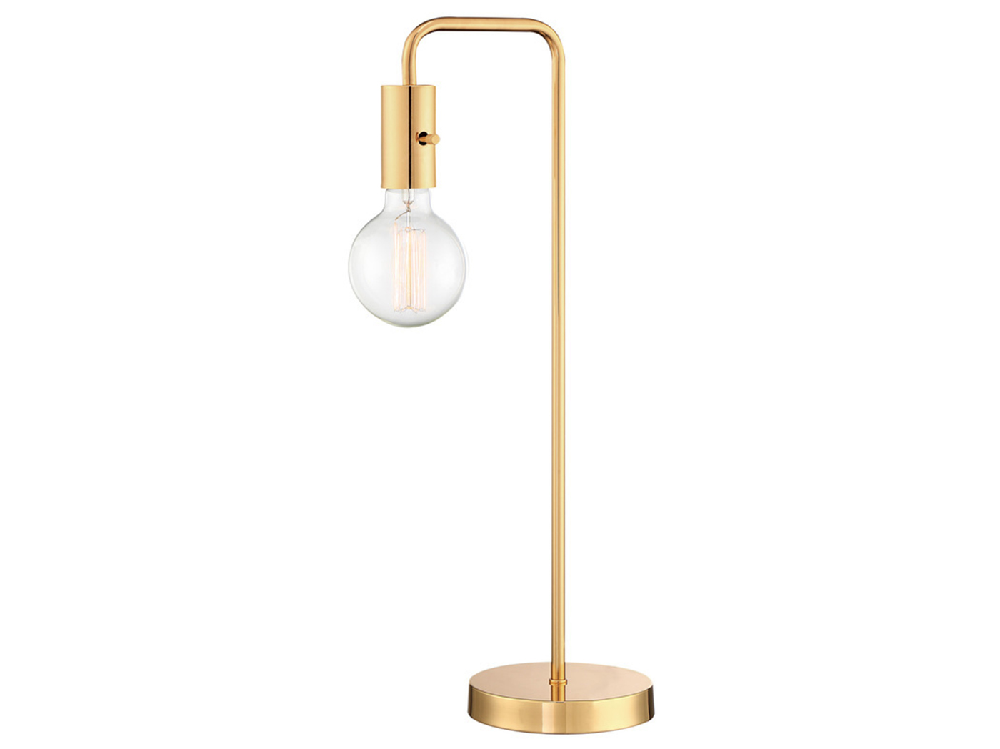 "Gold Metal Table Lamp 22""H"