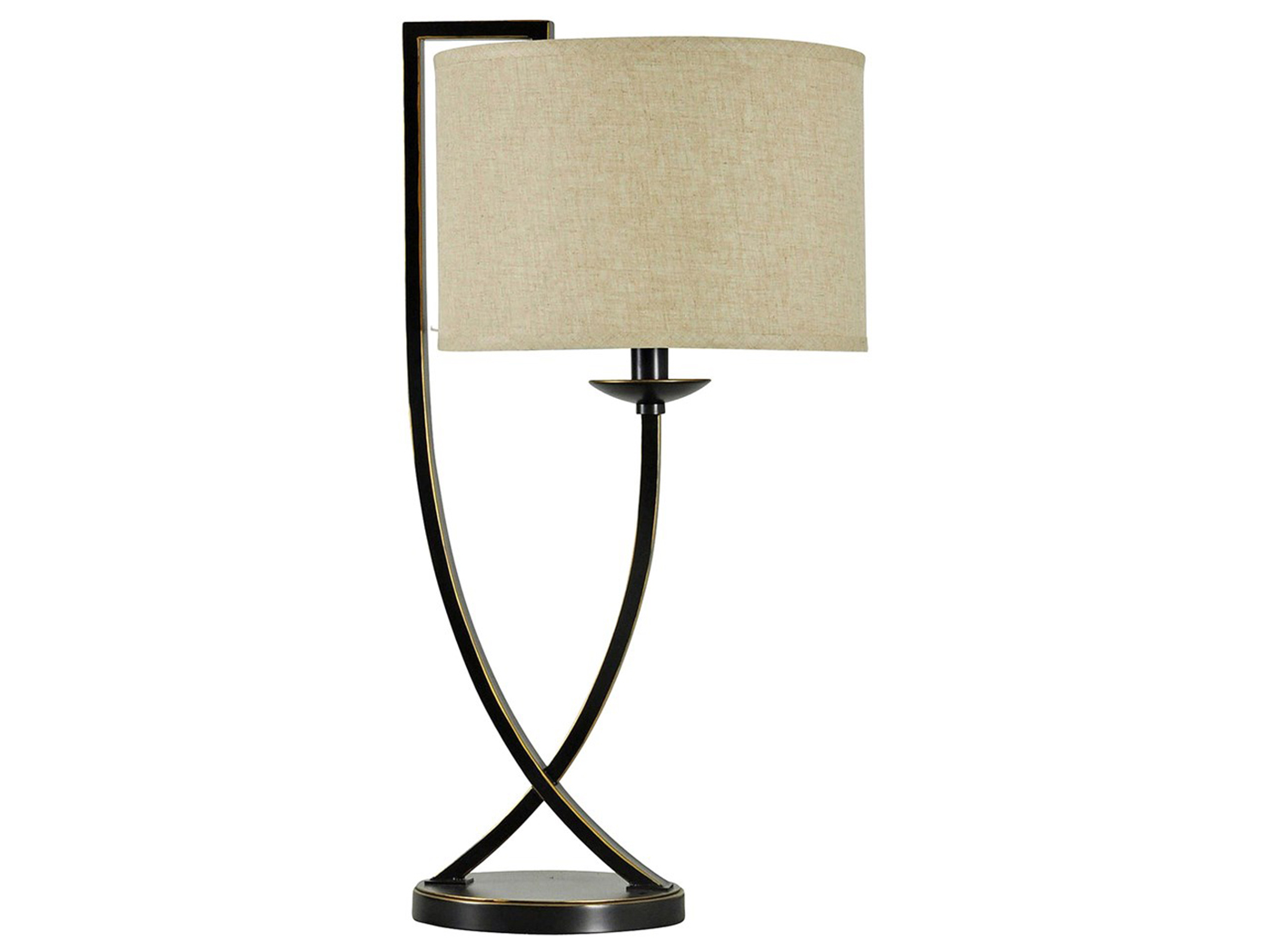 "Bronze Crossed Arm Table Lamp 29.25""H"