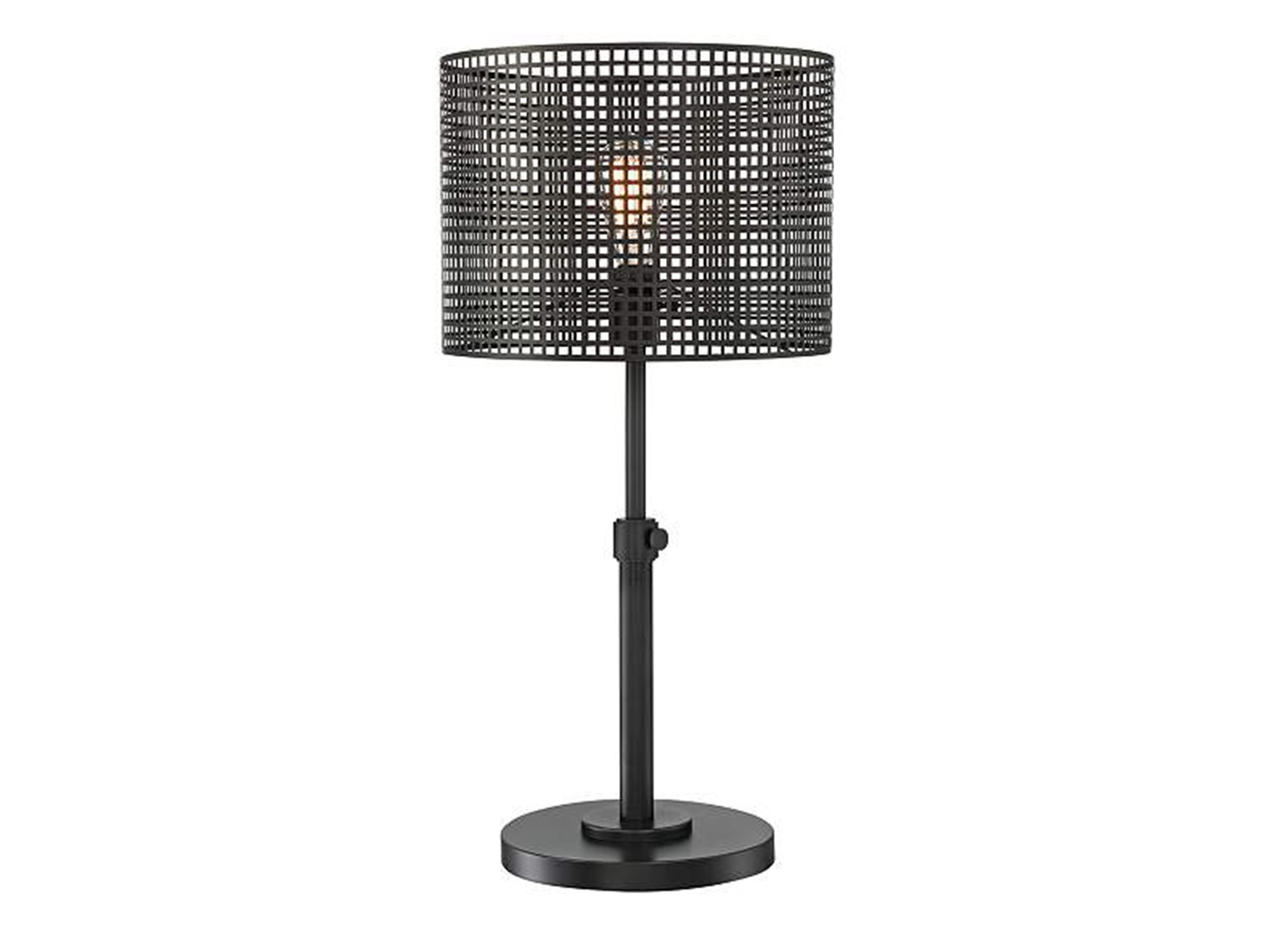 "Caged Drum Table Lamp 29""H"