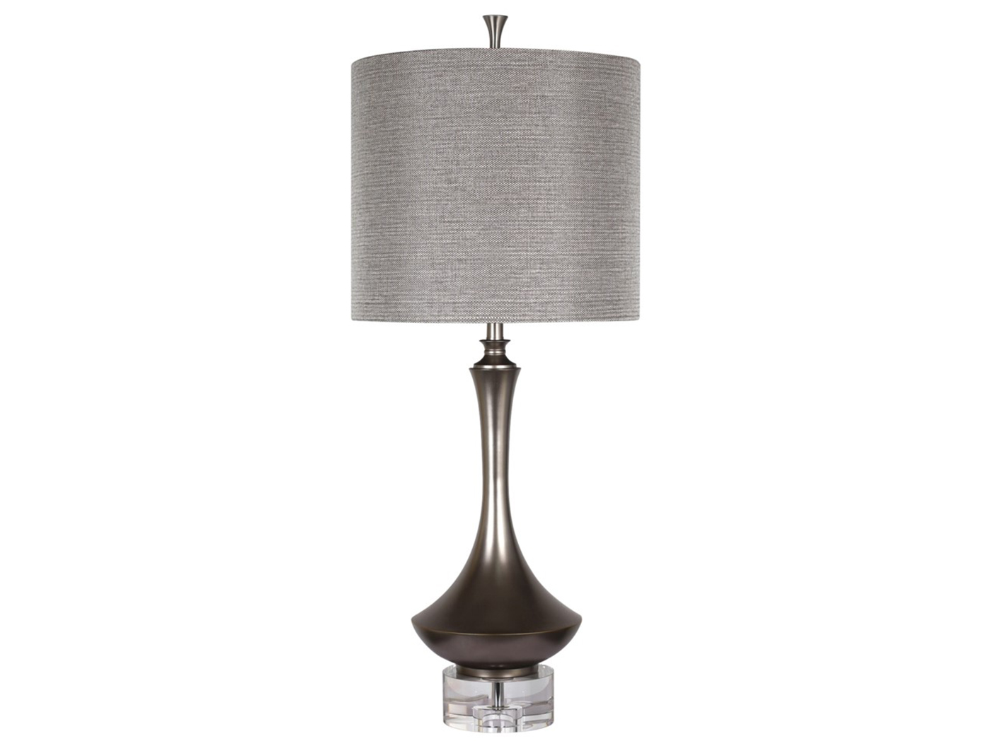 "Charcoal Metal Table Lamp 40.5""H"