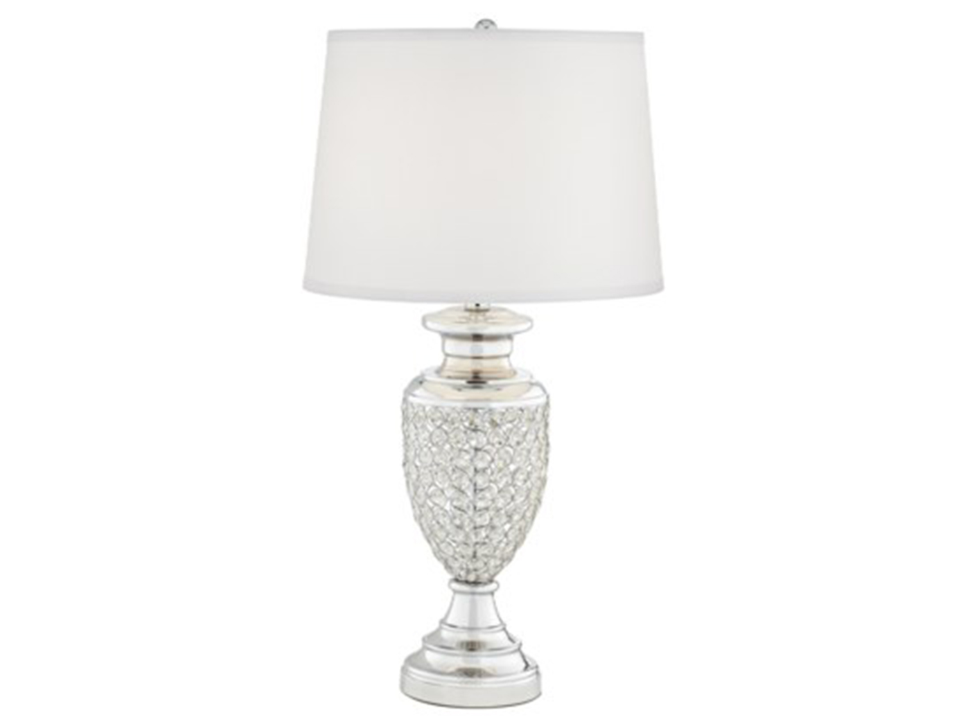 "Polished Chrome Glitz Table Lamp 29""H"