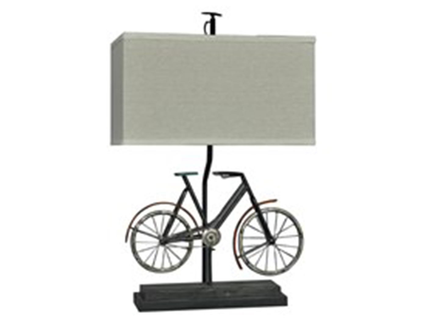 "Metal Rustic Bike Table Lamp 26.5""H"